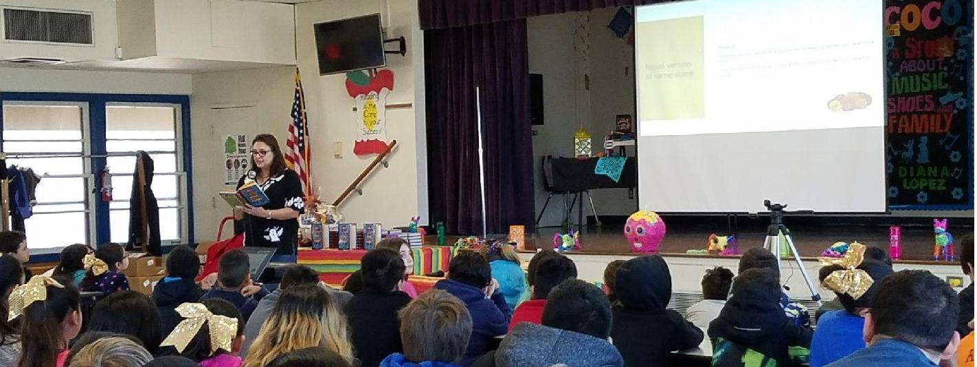 Author Diana Lopez visits Woodlawn